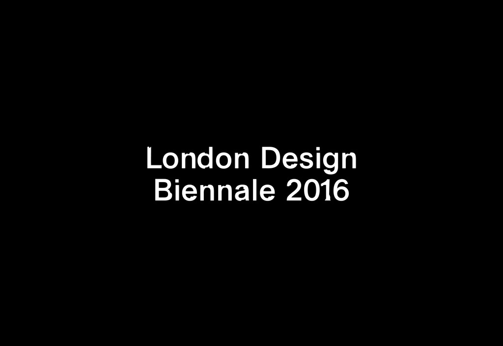London Design Biennale 2016 - © Maximage